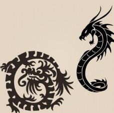 中国龙神龙矢量素材