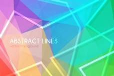 彩色几何形背景矢量素材