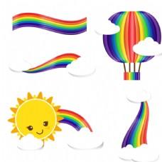 彩虹剪贴画矢量图