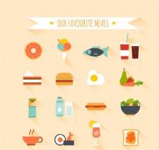 清新食物图标矢量素材