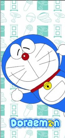 超可爱哆啦A梦手机壳矢量图
