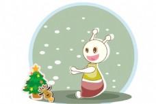 吃货星人雪中漫步壁纸