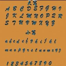 水晶 晶石 字母 数字