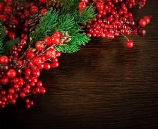 圣诞装饰木纹背景