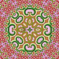 对称图案花纹背景
