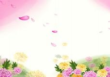 唯美花瓣海报背景