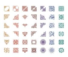 中国风传统复古花纹矢量图片
