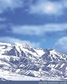 矢量雪山背景素材