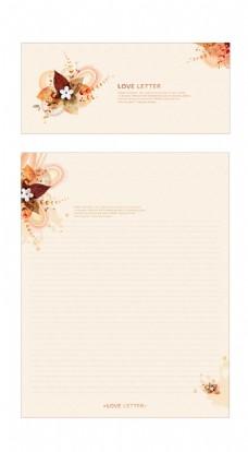 淡彩清新信纸设计素材09 AI矢量