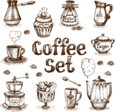 复古咖啡用品