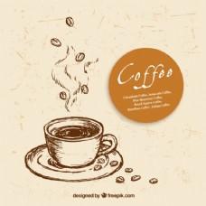手拉咖啡杯