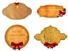 欧式复古标签 蝴蝶结图片
