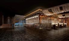 中式餐厅效果图制作