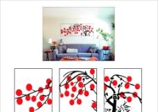 圆树背景墙贴图片