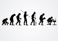 人类进化矢量图