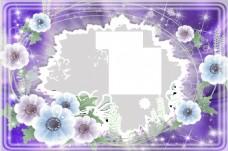 紫色照片边框
