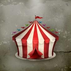 红色时尚马戏团帐篷
