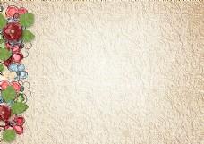 欧式花纹鲜花背景