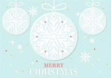 矢量圣诞装饰品海报