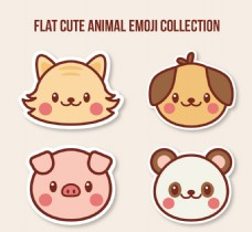 几个可爱的动物的表情
