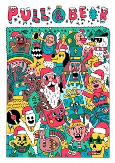 创意有趣的圣诞插画