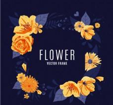 卡通矢量花卉装饰素材