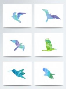 湿地日卡通唯美飞鸟PNG元素图