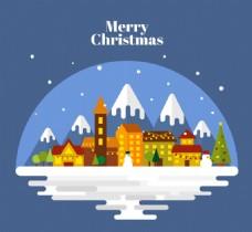 圣诞节平安夜插画矢量素材