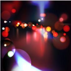 城市灯火光斑矢量背景素材