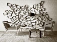 现代风格沙发背景墙