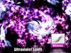 紫色梦幻空间抽象背景笔刷