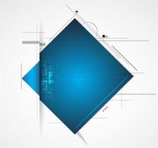 蓝色方形折纸背景