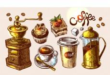 复古咖啡杯