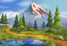 精美田野自然景观矢量素材 (8)