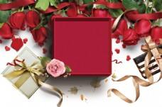 浪漫粉色玫瑰花花瓣梦幻背景