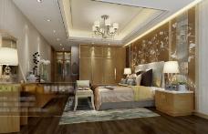 美式卧室效果图设计