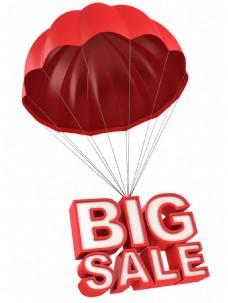 降落伞设计促销标签透明素材