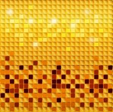 金色马赛克背景矢量素材下载
