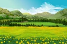 精美田野自然景观矢量素材 (14)