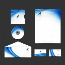 波浪式商务文具设计