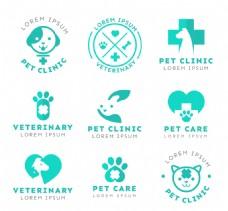 爱心医院图标logo设计素材