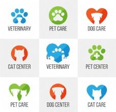 9个精美宠物医院logo设计矢量素材.