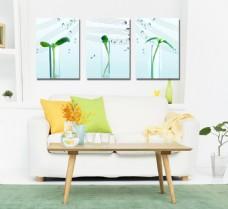 绿植餐厅装饰画