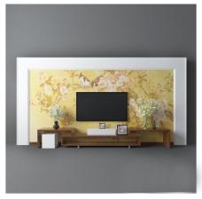 艺术墙纸电视墙