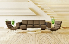 现代简约风格沙发背景墙