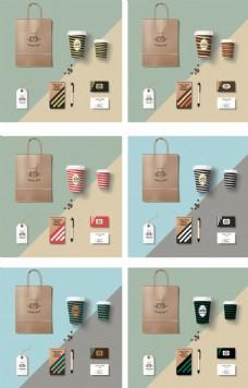 咖啡店铺视觉识别系统元素