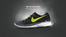 耐克跑步鞋宣传广告设计模板psd素材