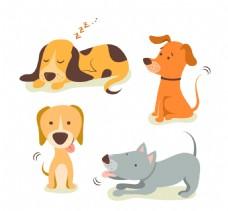 矢量可爱的狗插图