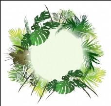 绿色清新植物插画