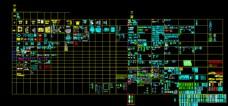 CAD平面立面图库图片